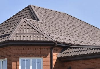 Brown metal roofing