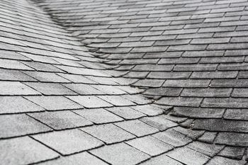Deteriorated shingles