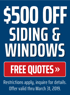 500 off siding & windows
