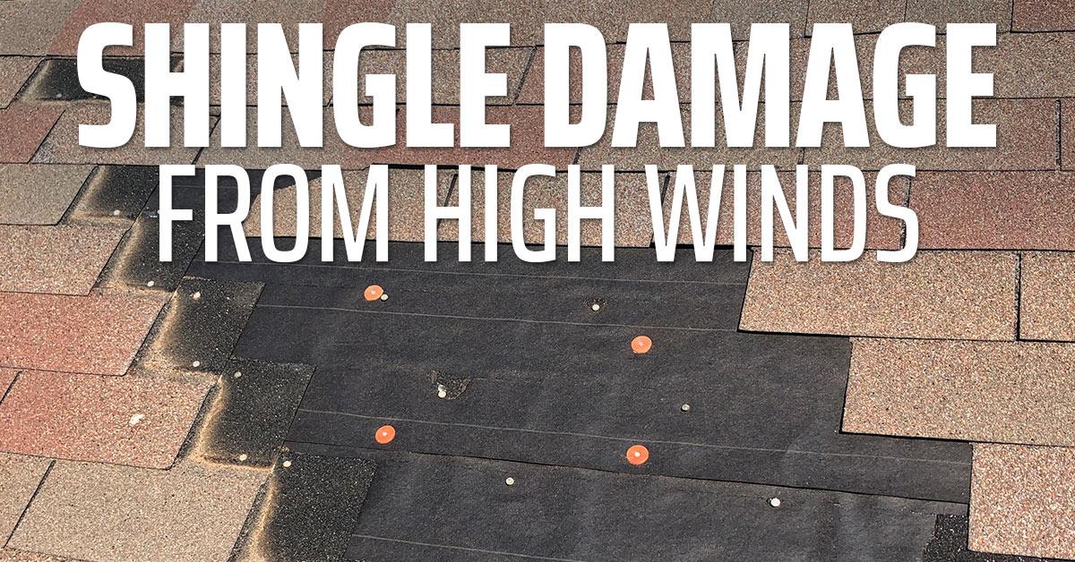 Shingle Damage From High Winds Wichita Ks Wind Damaged